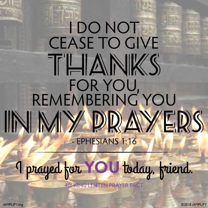 "2018 Lenten Prayer Pact ""I'm Praying for You"" image - text, email, Social Media: FREE Download"